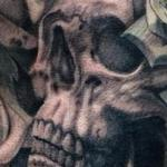 Skulls Roses Tattoo Design Thumbnail