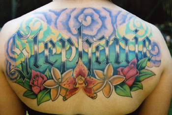 Jeff Johnson - memorial floral back piece