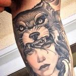 Wolf headdress Tattoo Design Thumbnail