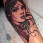 Western girl  Tattoo Design Thumbnail