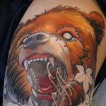 Bear thigh in progress Tattoo Design Thumbnail