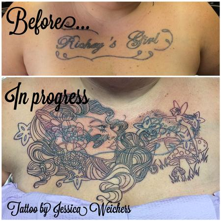 Body Part Chest Tattoos for Women - untitled