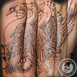 Stop Looking at Me Swan Tattoo Design Thumbnail