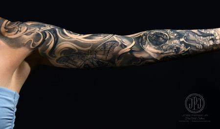tattoos/ - Cat Skull & Nature Sleeve - 127899