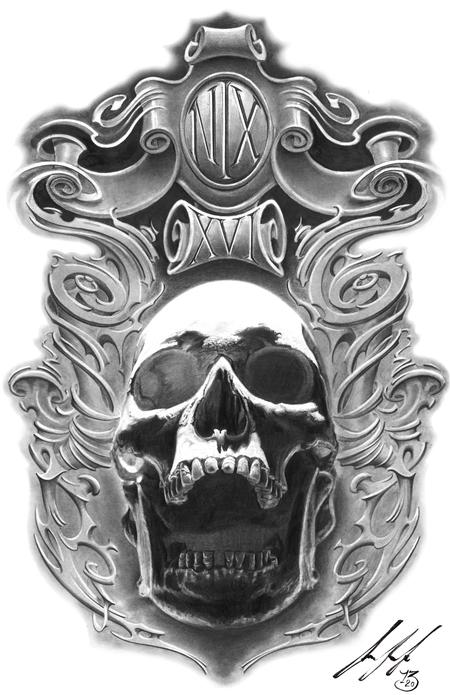 Art Galleries - Skull in Pencil - 99560