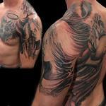 Angel In Progress Tattoo Design Thumbnail