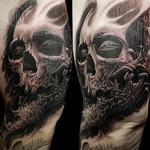 Skull Textured Jaw Tattoo Design Thumbnail