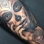 tattoos/ - Black and grey day of the dead - 132006