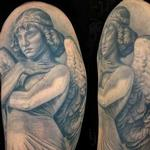 Monteverde Angel Sculpture Tattoo Design Thumbnail
