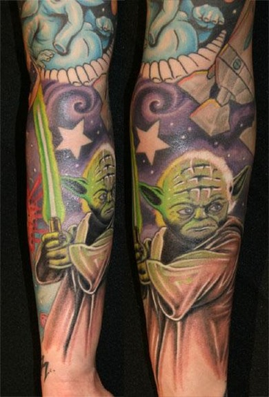 tattoos/ - Yoda Tattoo - 49869