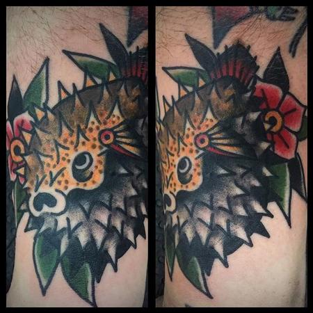 tattoos/ - Traditional Puffer Fish - 126282
