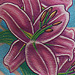 Lily flower tattoo Original Art Thumbnail