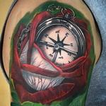 tattoos/ - Rose and Compass  - 129292