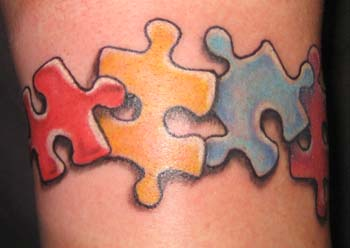 Looking for unique  Tattoos? Autism armband tattoo