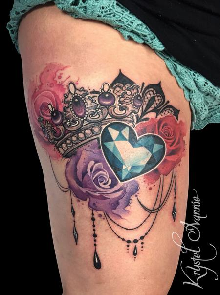 tattoos/ - Crown, jewel and roses - 130370