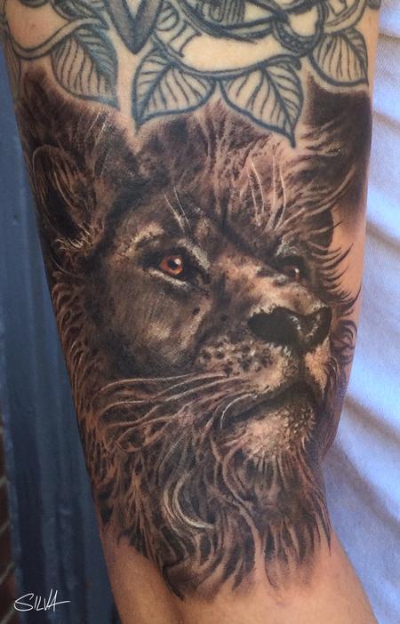 tattoos/ - Custom Lion Portrait Tattoo - 115755