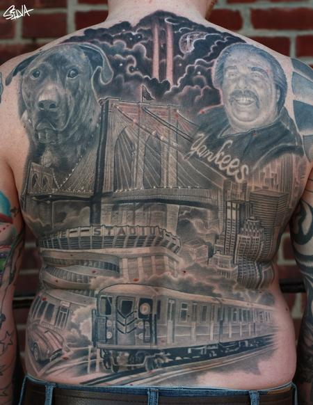 Lettering - New York Back Tattoo