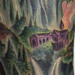 Fantasy Landscape Tattoo Design Thumbnail