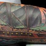 Custom Pirate Ship Tattoo Tattoo Design Thumbnail