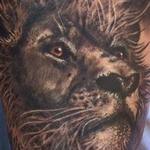 tattoos/ - Custom Lion Portrait Tattoo - 115755