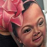 Baby Girl Portrait Tattoo Design Thumbnail