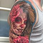 Day of the Dead Tattoo (clients wife) Tattoo Design Thumbnail