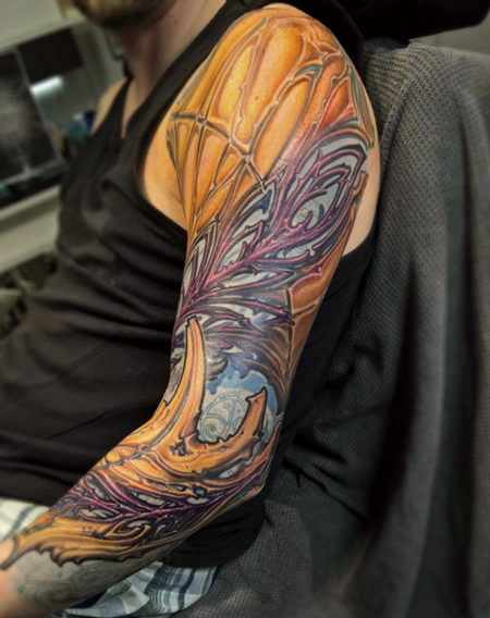 tattoos/ - Bio-Organic Sleeve Tattoo - 115392