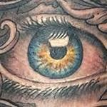 Eye and Lettering Tattoo Tattoo Design Thumbnail