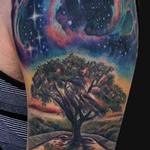 Outer space Tree tattoo half sleeve Tattoo Design Thumbnail
