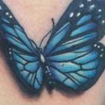 3D Blue Butterfly Tattoo Tattoo Design Thumbnail