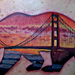 California Bear with a San Fran twist Tattoo Design Thumbnail