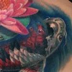 Koi Fish and Lotus Shoulder Tattoo Tattoo Design Thumbnail