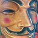 V for Vendetta Guy Fawkes Mask Tattoo Design Thumbnail