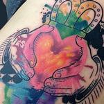 Watercolor Claddagh Tattoo Design Thumbnail