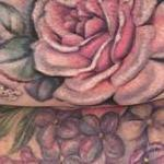 Roses and lilacs partial sleeve Tattoo Design Thumbnail