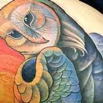 tattoos/ - Barn owl under moon  - 104379