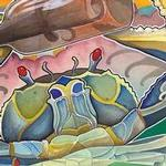 Art Galleries - crab and bottle - 99585