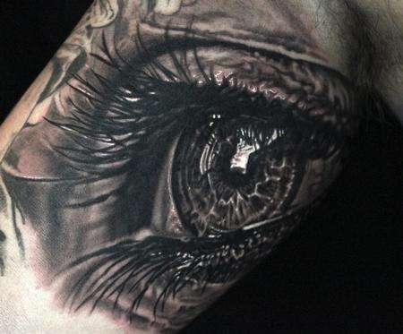 Religious - Photorealistic Eye Tattoo