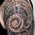 tattoos/ - REALISTIC ABTRACT CLOCK TATTOO - 117896