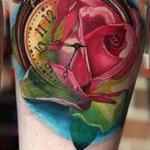 Rose pocket watch Tattoo Design Thumbnail