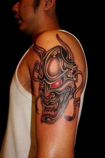 tattoos/ - Japanese Hanya Mask Tattoo - 68036