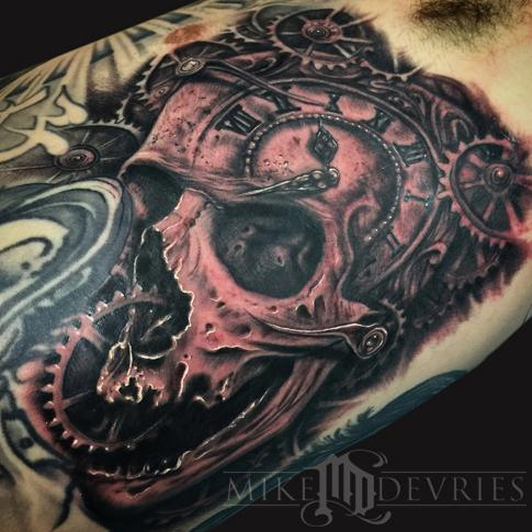 tattoos/ - Skull and Gears Tattoo - 106334