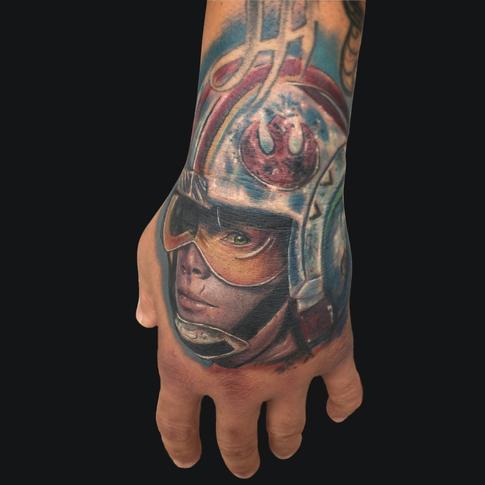 tattoos/ - Luke Skywalker Hand Tattoo