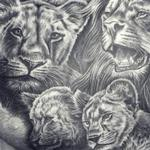 Lion Family Tattoo Tattoo Thumbnail