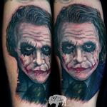 Heath Ledger Joker  Tattoo Design Thumbnail
