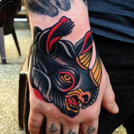 tattoos/ - black rhino tattoo - 89802