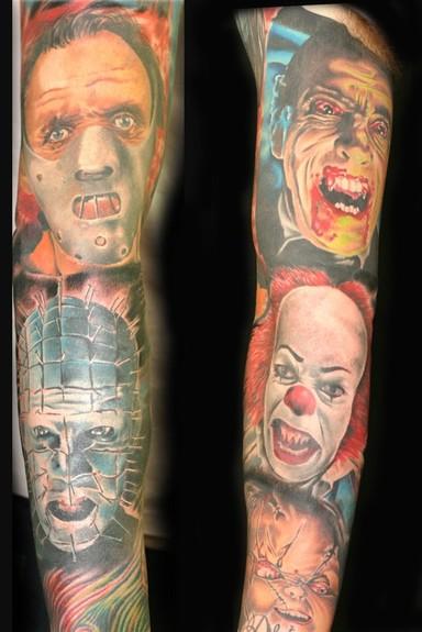 tattoos/ - Evil Portrait Sleeve - 51996