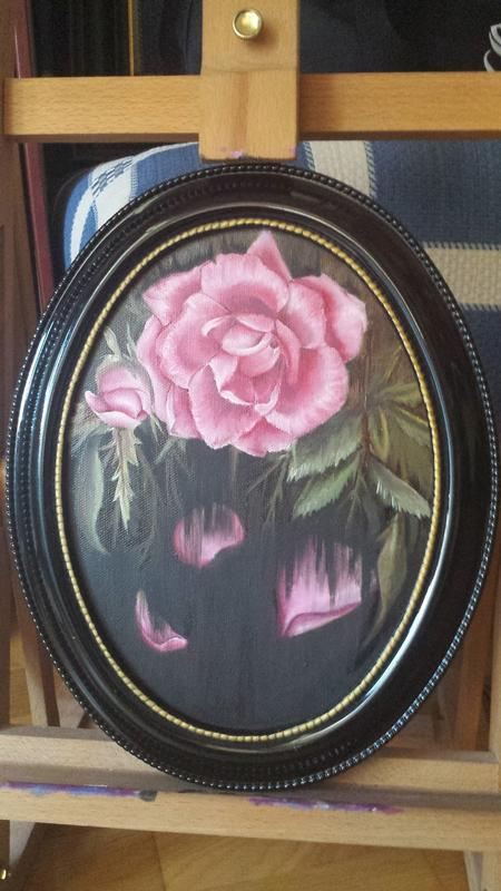 Art Galleries - Oil Painting of a Rose Withering - 125760