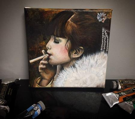 Art Galleries - Copy of Jan Saudek's photograph Oil - 123452