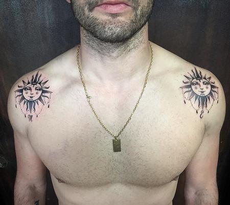 tattoos/ - Blackwork Suns with Ornaments - 127693